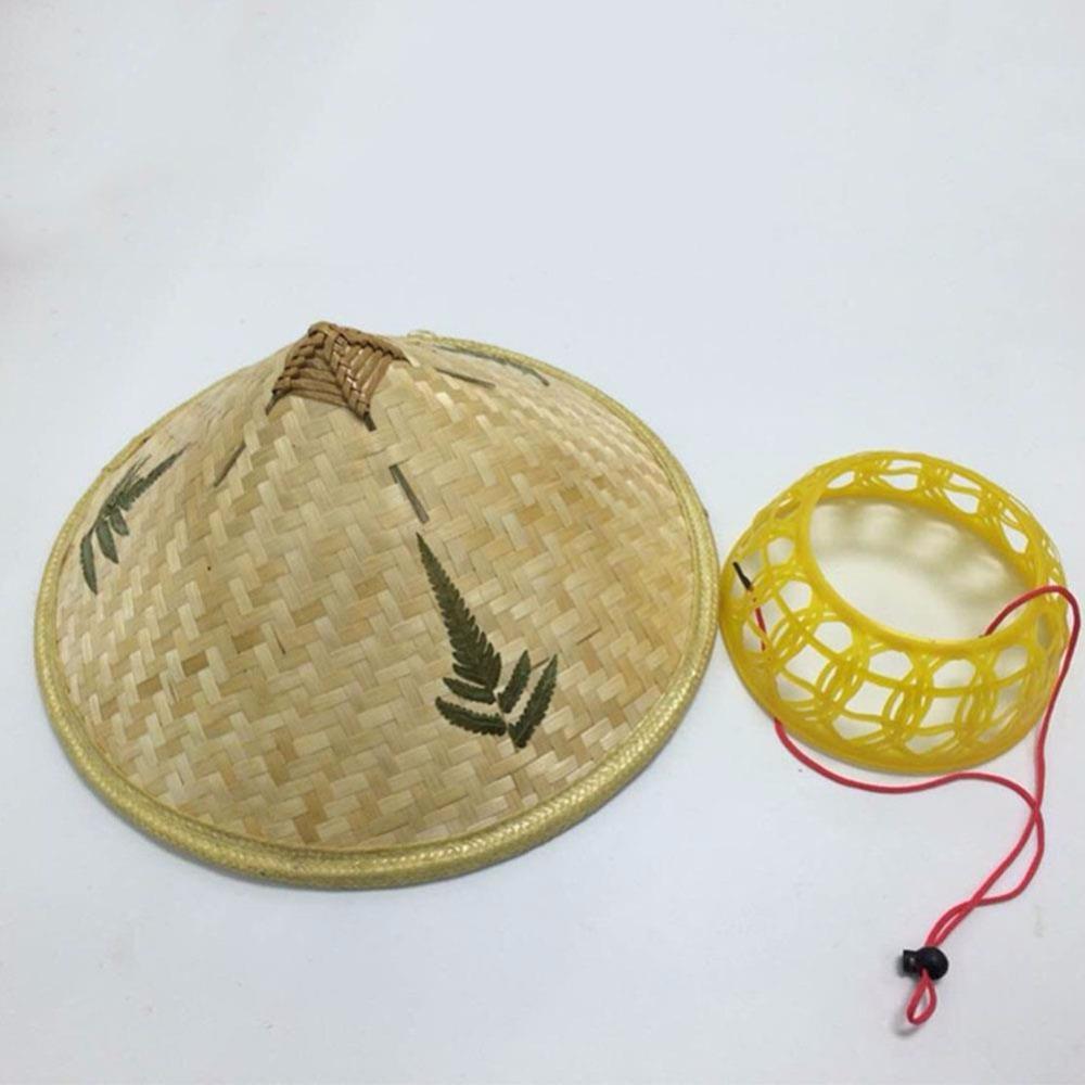 0726b847635 Chinese Style Bamboo Rattan Hats Retro Handmade Weave Straw Hat Tourism  Rain Cap Dance Props Cone Fishing Sunshade Fisherman Hat UK 2019 From  Jersey168