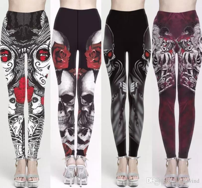 Plus Size Christmas Leggings.Plus Size Christmas Halloween Women Legging Yoga Pants 3d Printing Slim Fitness Workout Running Tights Trousers Fs5762