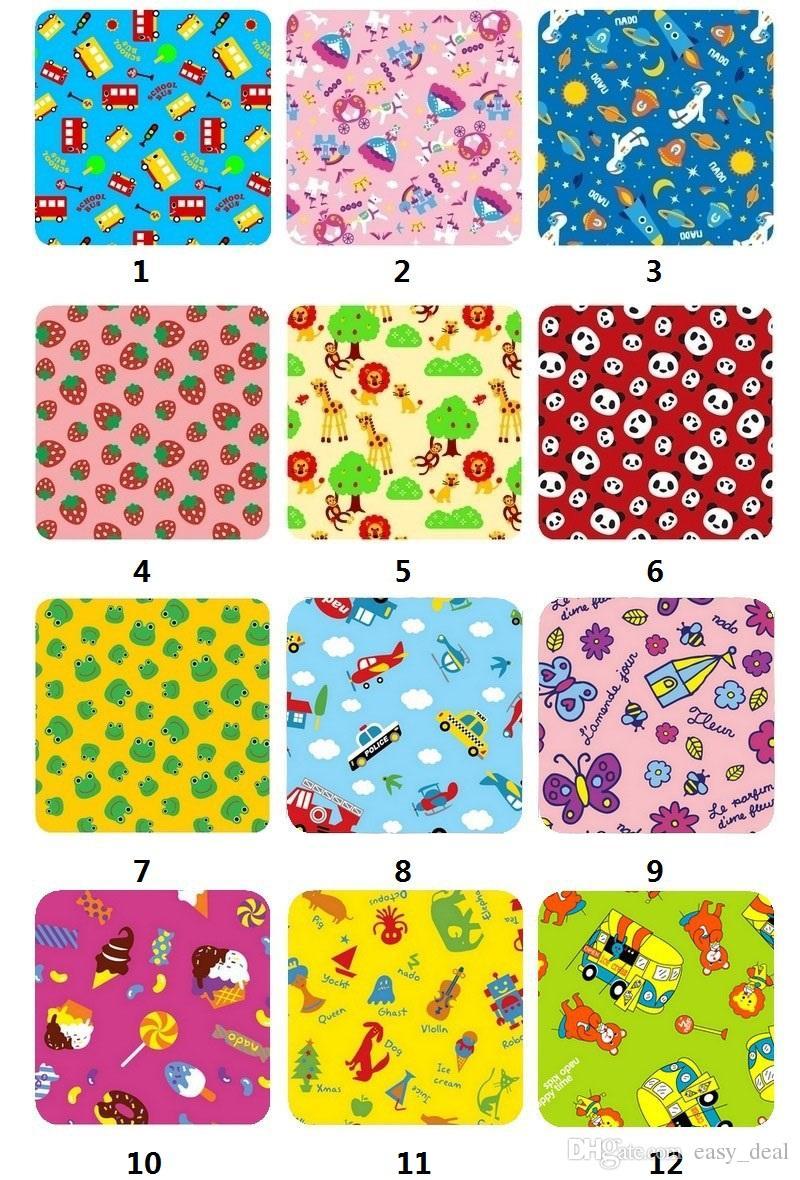 180*160mm Picnic Mat Large Size Blanket Baby Climbing Mats Children's Play Mats Portable Beach Mats Folded Blanket Cartoon Design ZA5863