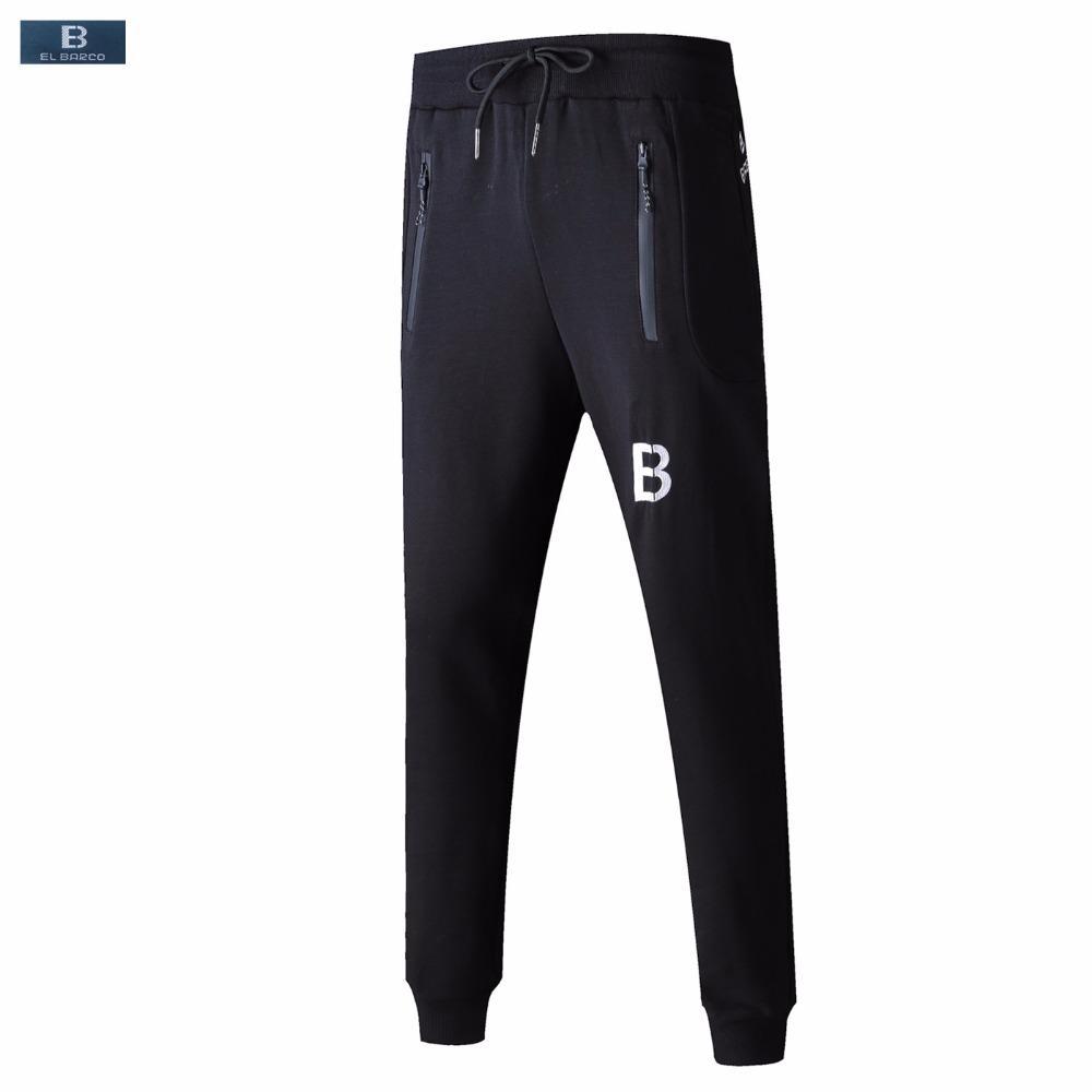 Pants El Barco Autumn Cotton Men Casual Pants Soft Breathable Black Male Sweatpants Joggers High Quality Long Trousers Plus Size L-5xl Quality First Men's Clothing