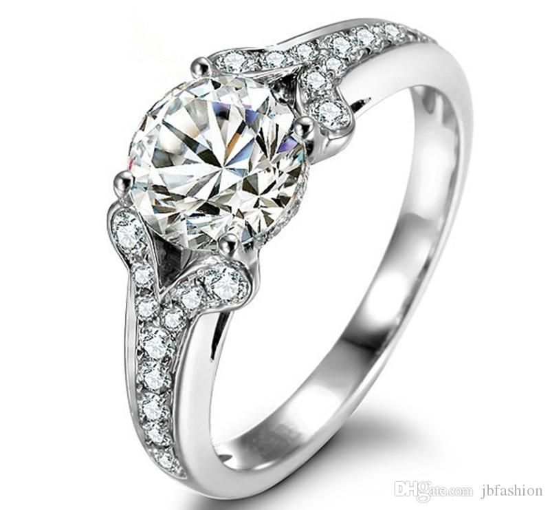 engagement cathedral ring round setting halo rings