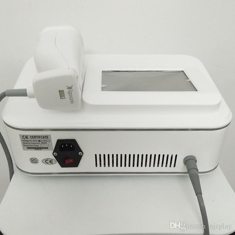 NEWEST! 휴대용 Liposonix 기계 8MM 13MM 높은 강도는 HIFU Liposonix 슬리밍 기계 CE / DHL 리프팅 초음파 얼굴을 집중