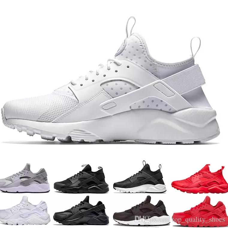 2b29a37871e6 Huarache Run Shoes Triple White Black Men Women Running Designer Shoes Red  Grey Huaraches Sport Shoes Mens Womens Sneakers Us 5.5 11 Walking Shoes  Trail ...