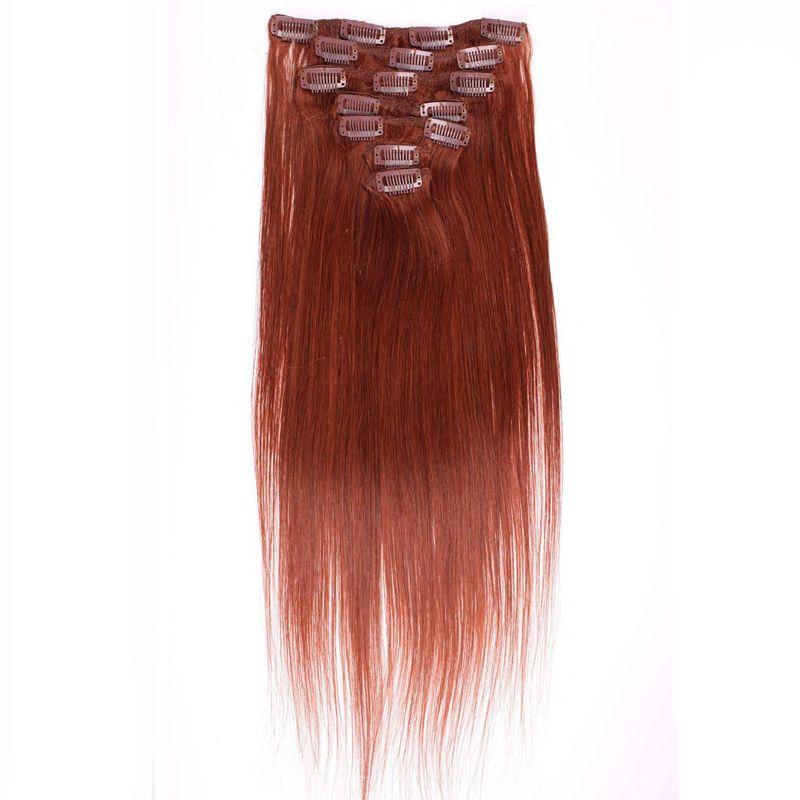 # 33 Dark Auburn Brown Clip in Menschenhaarverlängerungen / set 100g Virgin dicken Clip in Haarverlängerung