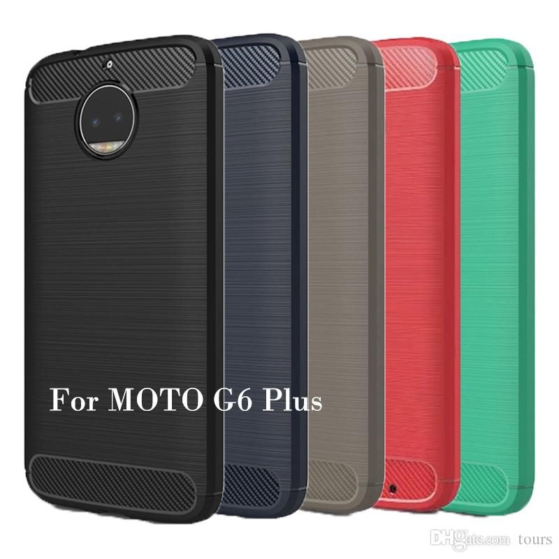 the best attitude b20fa 03925 For MOTO G6 Case Carbon Fiber Phone Case Soft TPU Back Cover For MOTO G6  G6plus G6play