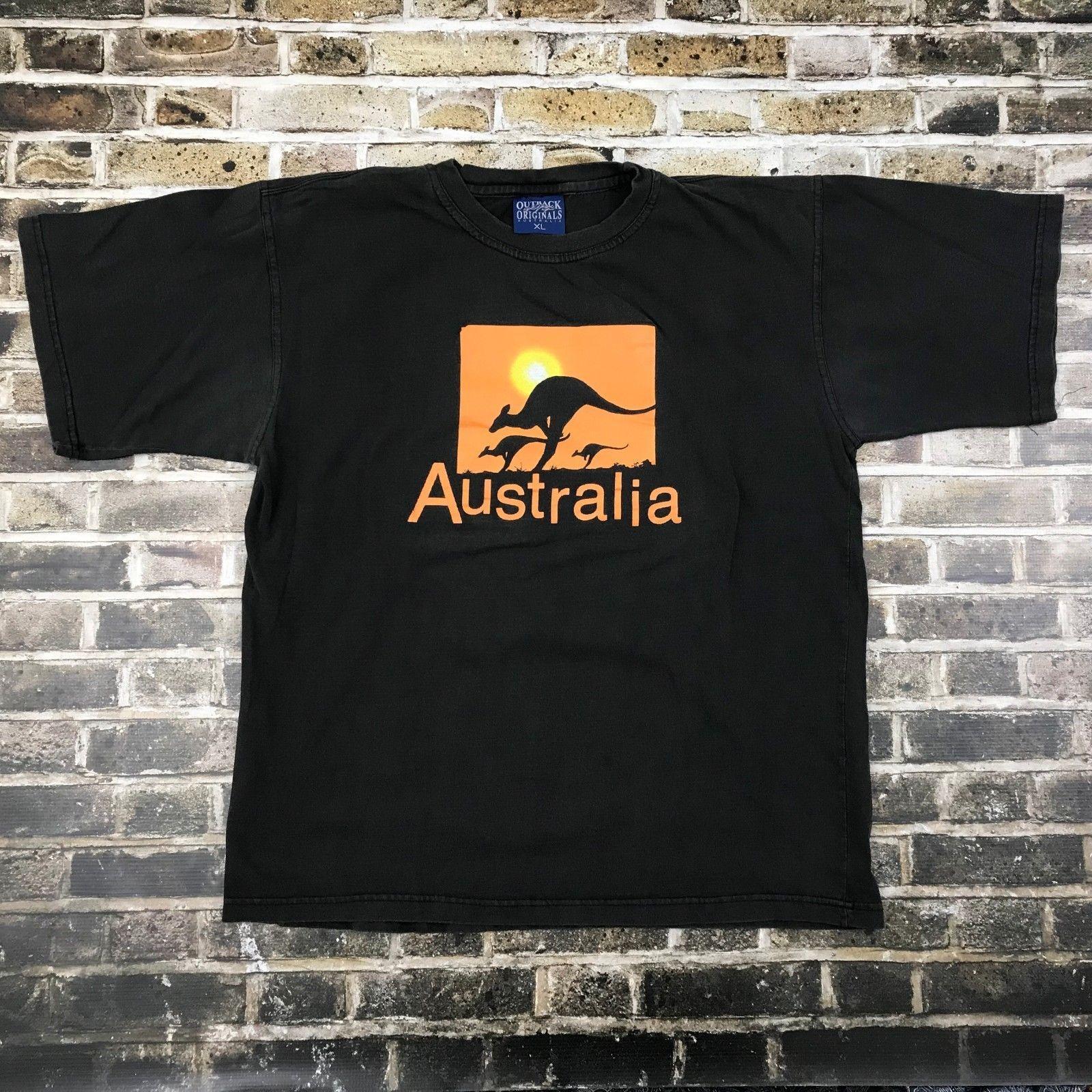 846041cc707c Австралия сувенир футболка XL Outback оригиналы кенгуру изложить черный  оранжевый