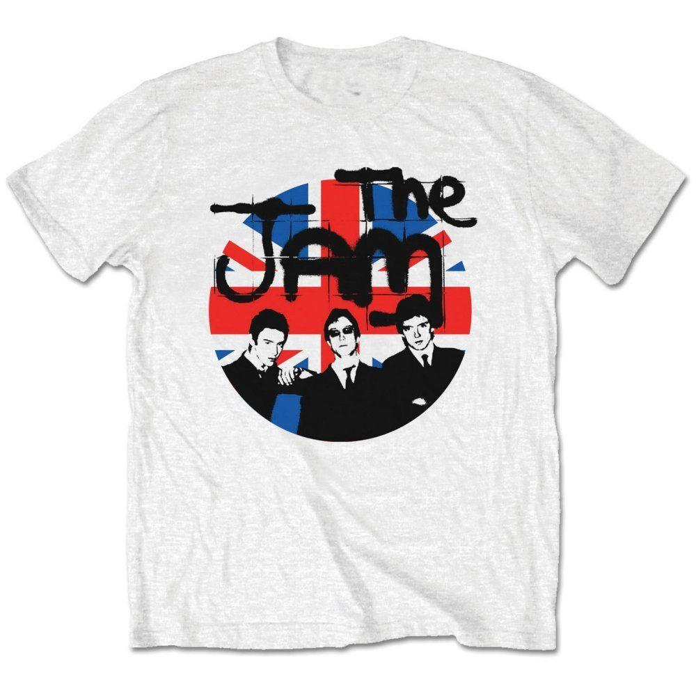 Novità Magliette Uomo'S The Jam 'Union Jack Circle' Short O-Neck Shirt