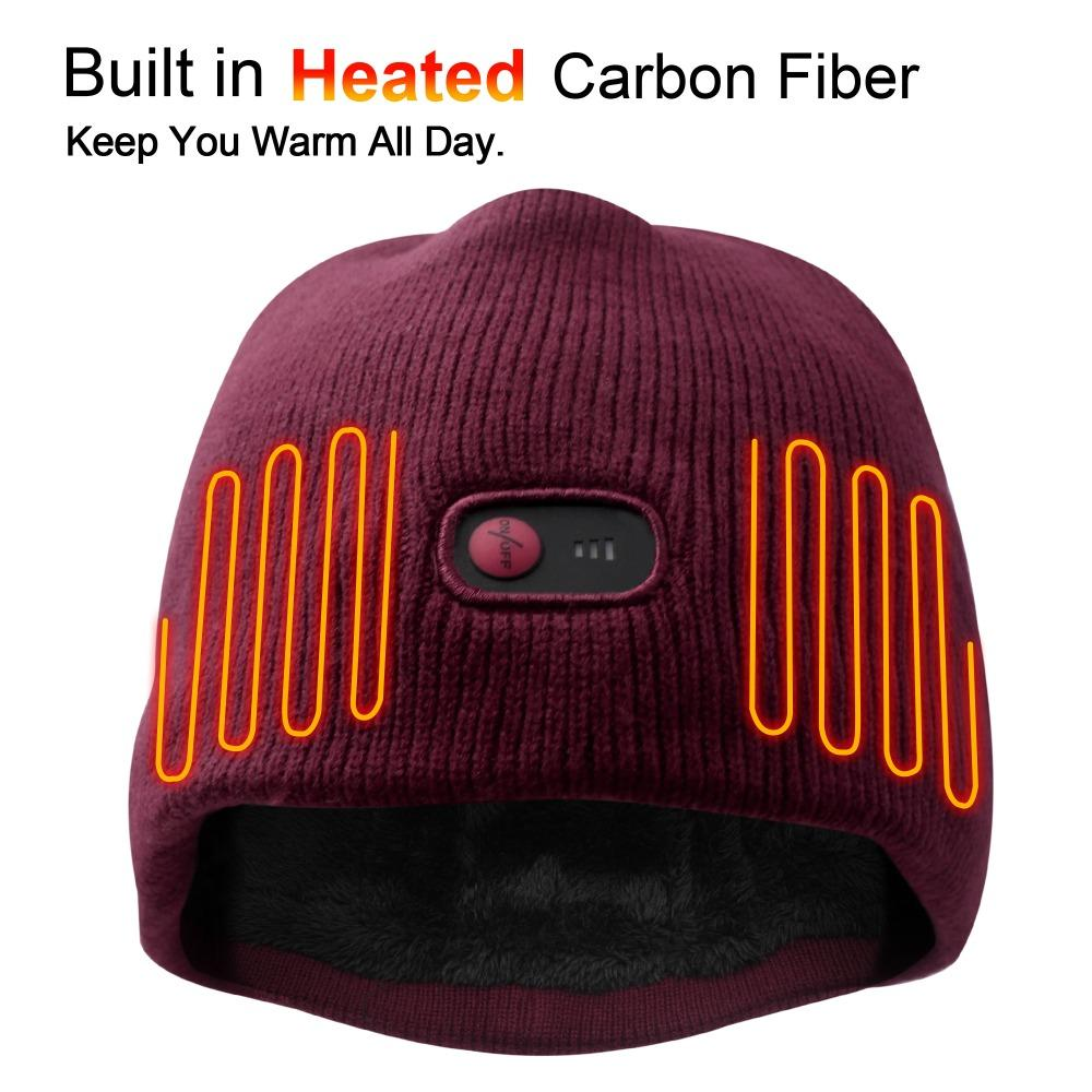 2019 2018 New Electric Battery Heated Hat Skullies Beanies Soft Cotton  Carbon Fiber Heating Warm Caps For Cold Winter From Mangosteeng bcedb236cc6