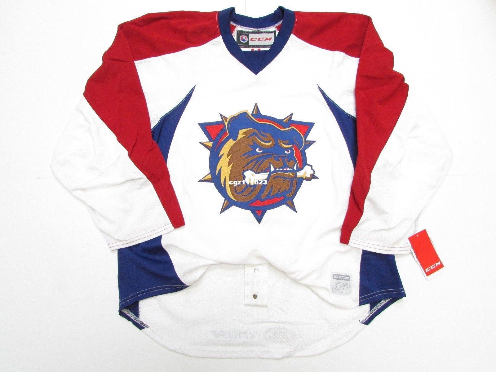 c05fc026417 Cheap Custom HAMILTON BULLDOGS Ice Hockey Jerseys AHL PRO PRACTICE ...