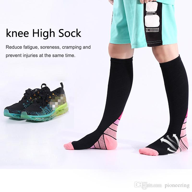 bb51f6e9e 2019 Knee High Compression Socks For Men   Women Graduated Athletic Fit For  Running