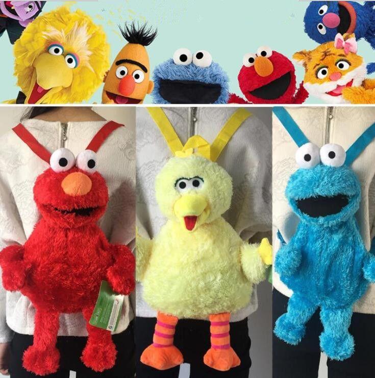 Großhandel 45cm Cartoon Sesame Street Plüsch Rucksack Elmo Monster ...