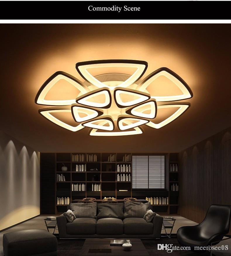 Minimalist Modern LED Ceiling Chandelier Lights for Living Room ... b4bcde880e7a