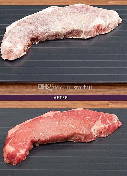 تذويب سريع صينية ذوبان الجليد صينية اللحوم المجمدة الطعام بسرعة دون كهرباء الميكروويف ذوبان الأغذية المجمدة اكسسوارات المطبخ WX9-455