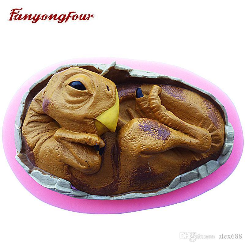 Grosshandel 3d Dinosaurier Kuchen Form Silikon Form Schokoladen Gips