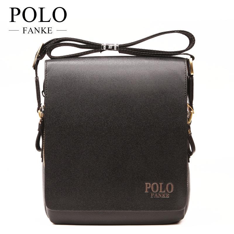 FANKE POLO PU Leather Luxury Men Bags Design Casual Business Mens Messenger  Bag Vintage Men S Crossbody Bag Bolsas Male F4361 Messenger Bags For Women  ... 22bd5841aea6d