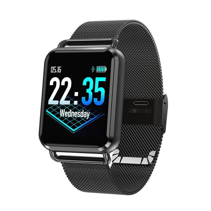 e077977310b0 Compre Reloj Elegante Para Hombre De Acero Inoxidable   Banda De Silicona  Podómetro Pulsera Fitness Reloj De Ritmo Cardíaco Smartwatch Podómetro A   51.37 ...