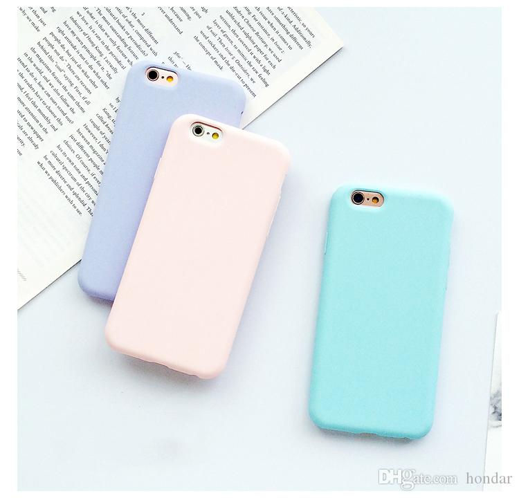huge discount 854a1 bf88f 2018 Sweep-Trending For iphone x case X 10 Solid Color Ultrathin Soft TPU  Cases Cute Candy Color Phone Case Back Cover