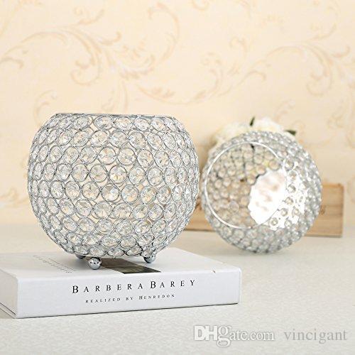 20cm Diameter Glass Display Vases Bowl Tea Light Dinning Table Party