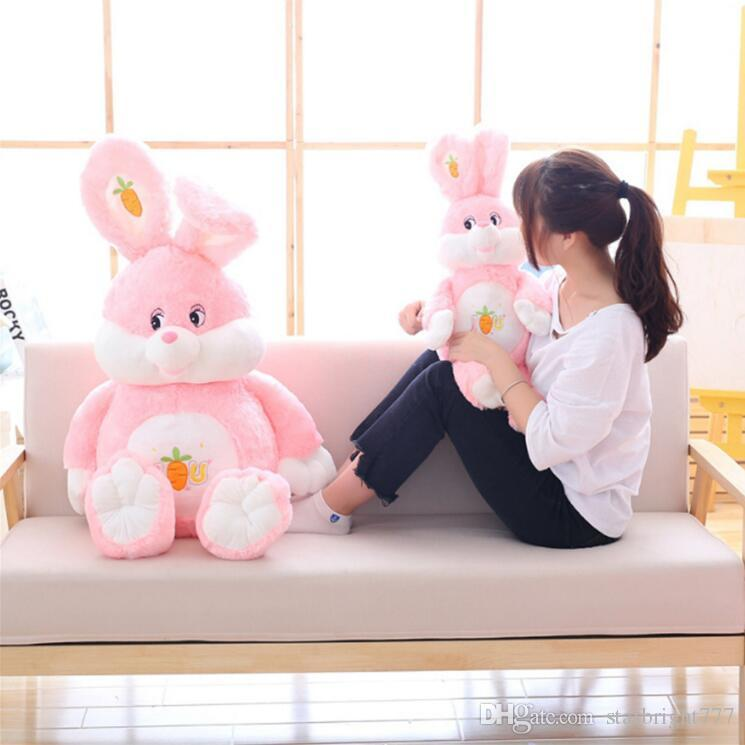 Huge Soft Cartoon Rabbit Plush Doll Stuffed Giant Anime Pink Bunny Toy Animal Pillow Baby Gift 3 Sizes