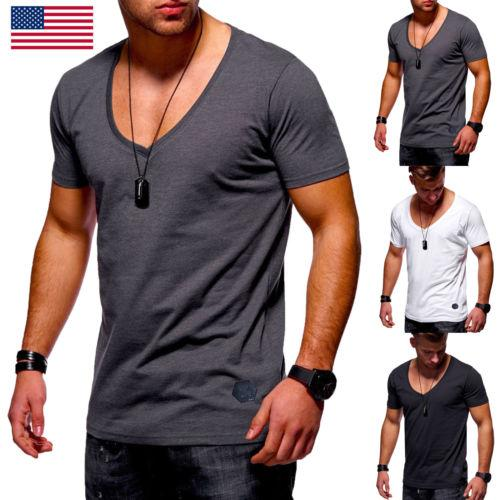 9102c816348d Mens Short Sleeve V Neck T Shirt Slim Fit Casual Tops Bodybuilding Muscle  Summer Men Short Sleeve Tee T Shirt Humorous Tee Shirts Design And Order T  Shirts ...