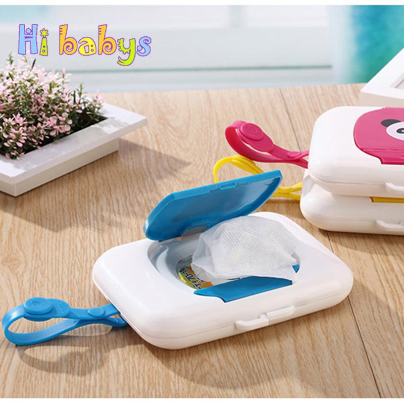 Baby Wet Wipes Box Container With Lid Napkin Holder Portable Infant Mouse  Hand Cleaning Wipes Dispenser Tavelling Napkins Holder