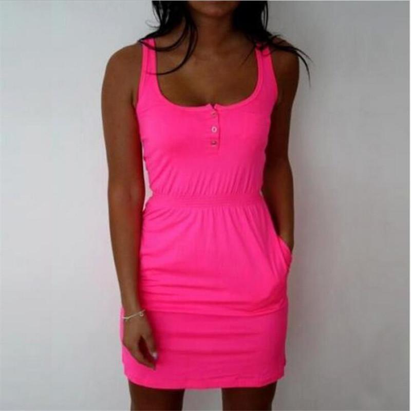 Vestidos Femel Candy Color Slim Mini Bodycon 2018 Summer Style Women  Tropical Boho Clothing Brief 5XL Plus Size Casual Dresses Dresses Summer Dresses  Women ... f9f923199bc8