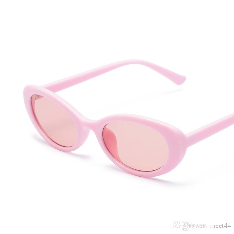 4863b9faa4f6 2018 European And American Fashion UV Protection Sunglasses Personality  Shell White Round Glasses Oval Sunglasses UV400 Designer Sunglasses  Sunglasses For ...