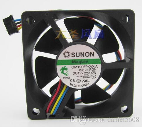 Wholesale: SUNON GM1206PKVX-A 60*60*20mm 12V 3 0W 4 line CPU fan cooling fan