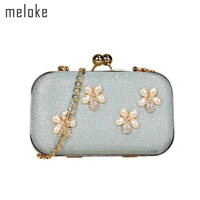 Meloke 2018 New Flowers Evening Clutch Purse Mini Weave Banquet Bags with  Chain Luxury Party Bags Drop Shipping Mn1001 Evening Bags Cheap Evening Bags  ... 1bc9a0edbce6