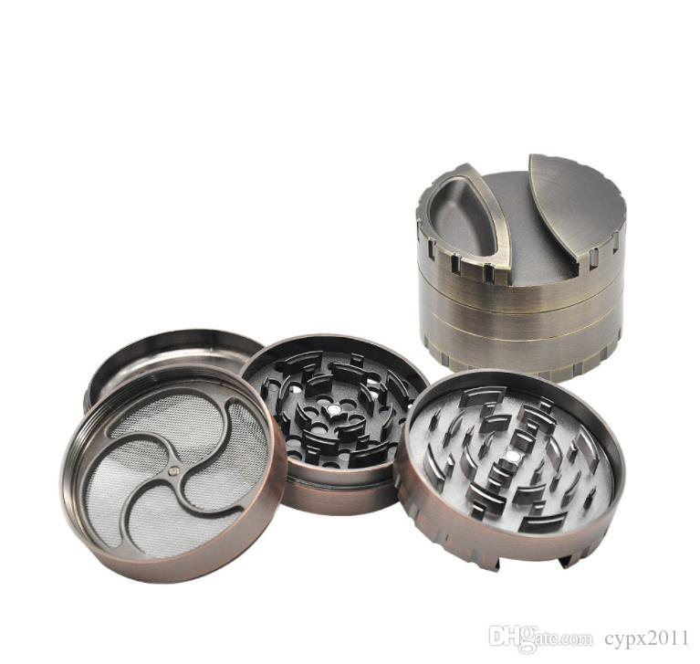 New four layer aluminum alloy cigarette lighter 80mm personalized creative metal grinder