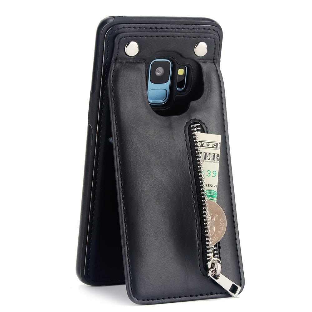 new style 9e12d dfa06 One Piece for Samsung Galaxy S8 Plus Case Pu Leather Luxury Wallet Cover  Card Holder Flip Stand Samsung Galaxy S9 Case Design Phone Case