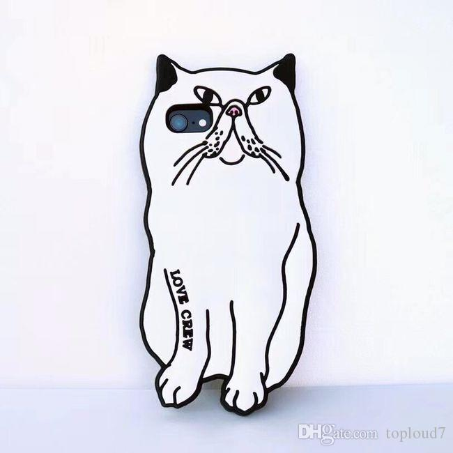 3D Cartoon Silicone Middle finger pocket cat fashion design Silica gel material Cover Case for iphone X 8 7 6S 5S SE Plus