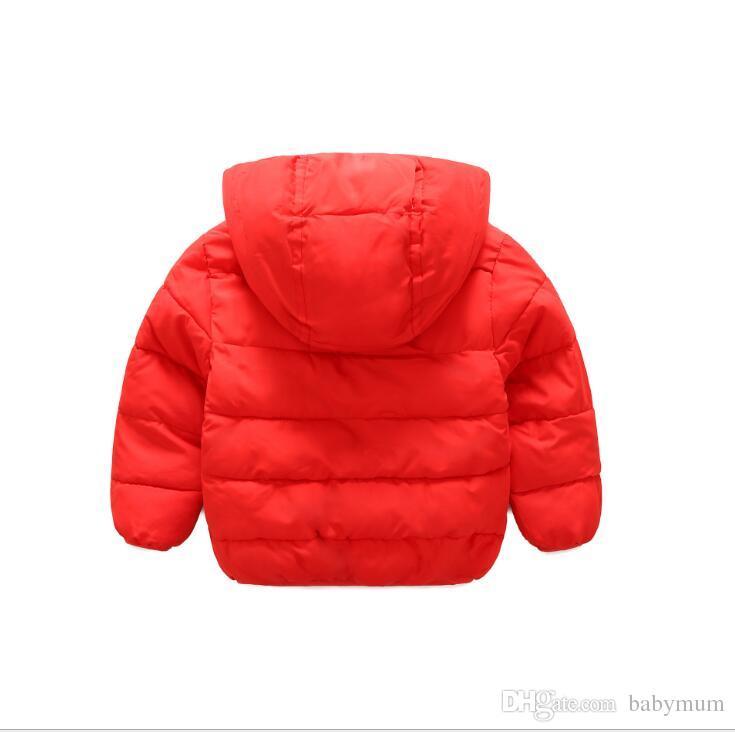 Çocuklar sıcak Mont Erkek Kız Kış Sonbahar Giyim Çocuk Hoodies Bebek aşağı Ceketler bebek Dış Giyim bebek dış giyim ceketler
