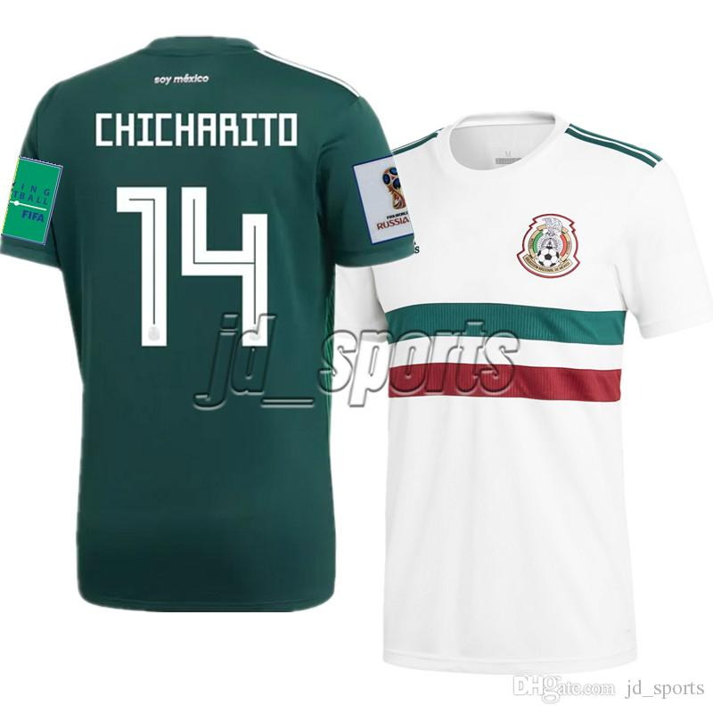 official photos 5a3f3 dd39a 2018 World Cup Mexico National Team Home Away Futbol Camisa Soccer Jerseys  Football Camiseta Shirt Kit Maillot