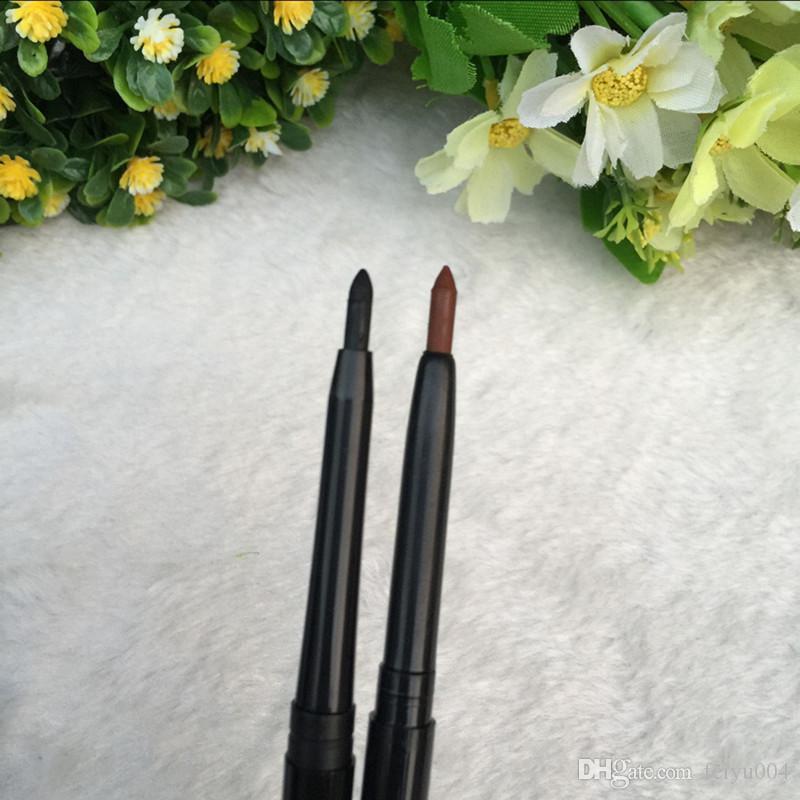 Бесплатная доставка ePacket новый макияж глаз поворотный выдвижной с витамином AE водонепроницаемый карандаш для глаз!черно-коричневый.
