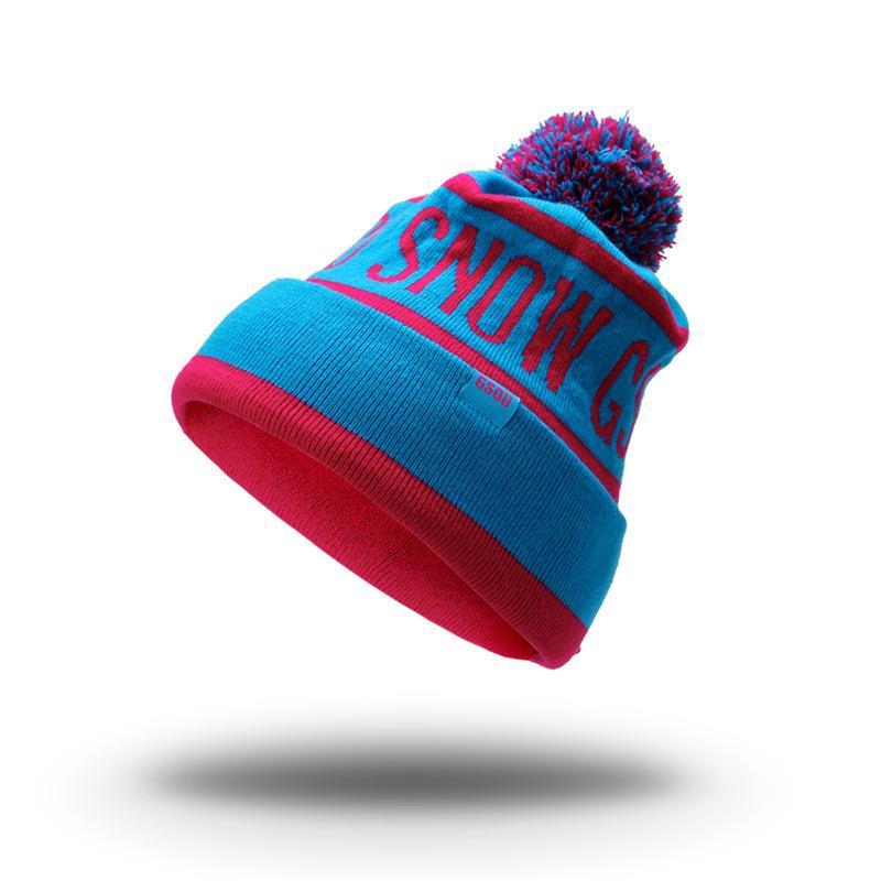 Acquista Gsou Cappelli Invernali Da Donna Donna Uomo Unisex Beanie Colorful  Outdoor Thermal Warmth Snowboard Berretto A Maglia Cheap Ski Perfect Gifts  A ... 1eb8c654017e