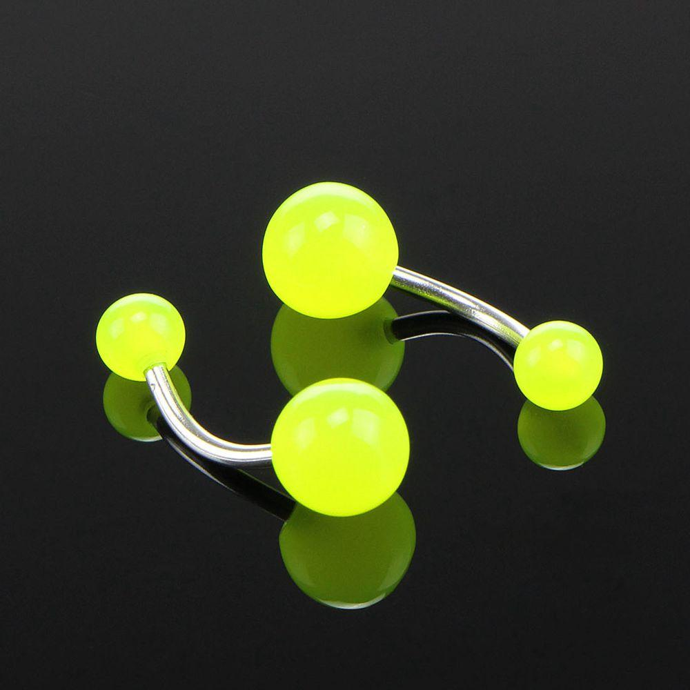 Luminous Acrylic Belly Button Rings Sexy Woman Belly Piercing Barbell 14G Surgical Steel Navel Piercing Body Jewelry