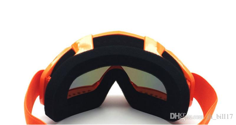 Orange Frame Off-road Motorcycle Racing goggles Outdoor Riding Glasses Wwindproof Eyewear Ski Skating goggles Clear Color Lens