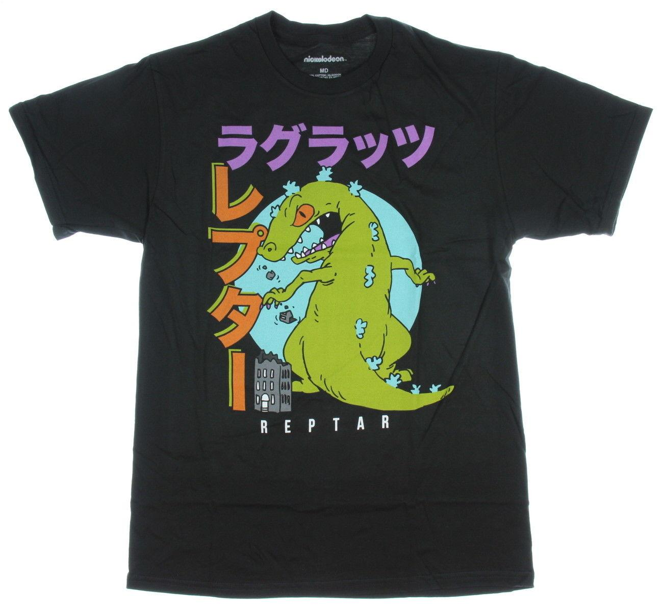 94ad1674e1a Nickelodeon Shirt Rugrats Reptar Japanese Script Men S Graphic T Shirt  Medium T Sirts T Shirs From Caisemao07