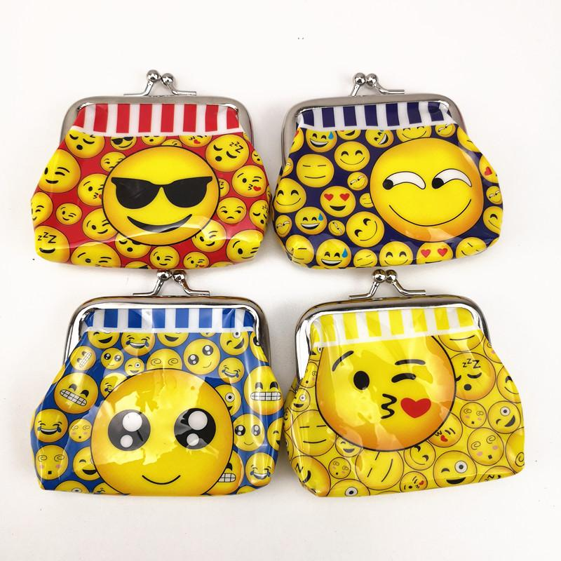 99cm Cute Emoji Mini Coin Purse Party Favors Money Bag Wallet Birthday Supplies Gift For Kids Boy Girl Personalized