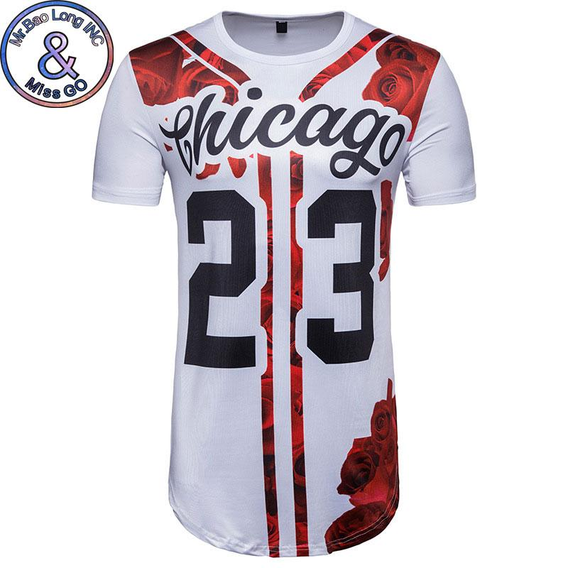 b3833035a4ac Mens Hipster 23 Number 3D Floral Tshirt 2018 Summer New Short Sleeve T Shirt  Men Casual Brand Hip Hop Baseball Jersey Camiseta It T Shirt Design Clever  Tee ...