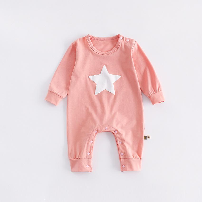b9ce30572 2019 Newborn Baby Boy Clothes Infant Romper Long Sleeve Star Print ...