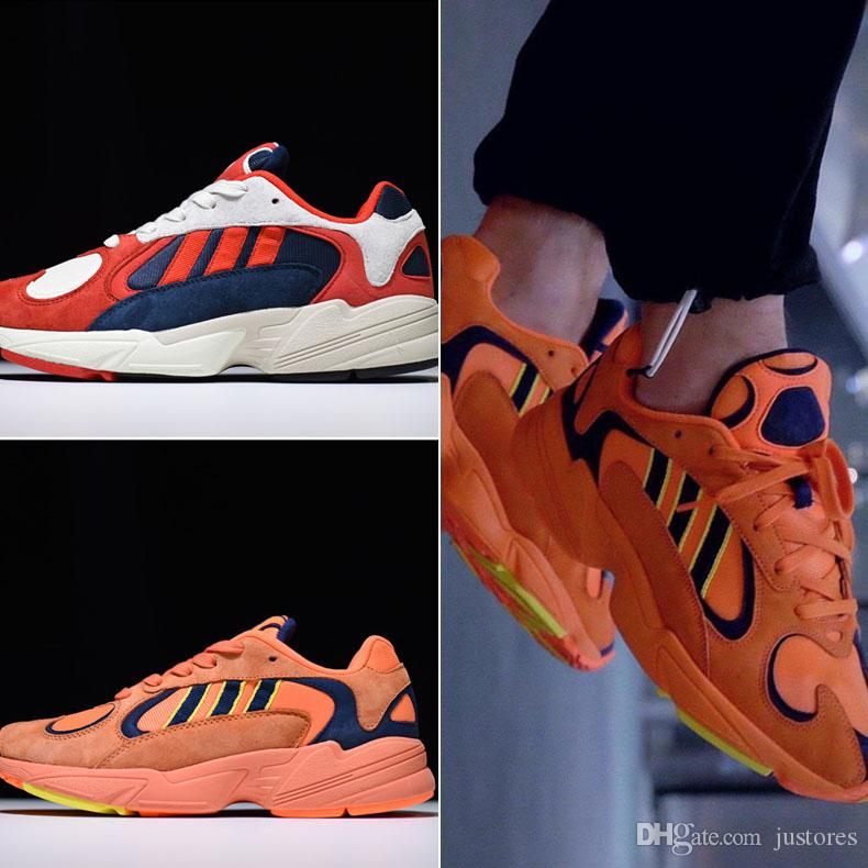 decba2c4038 2018 Top Quality Kanye Originals YUNG 1 YZ700 Sneaker Men And Women Casual  Dad Shoes Hi Res Orange Chalk White Canada 2019 From Justores