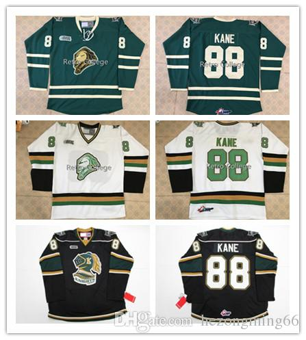 423cad34c London Knights  88 Patrick Kane Green Hockey Jersey Embroidery Stitched  Customize Any Number And Name Jerseys Online with  57.92 Piece on  Hezongming66 s ...