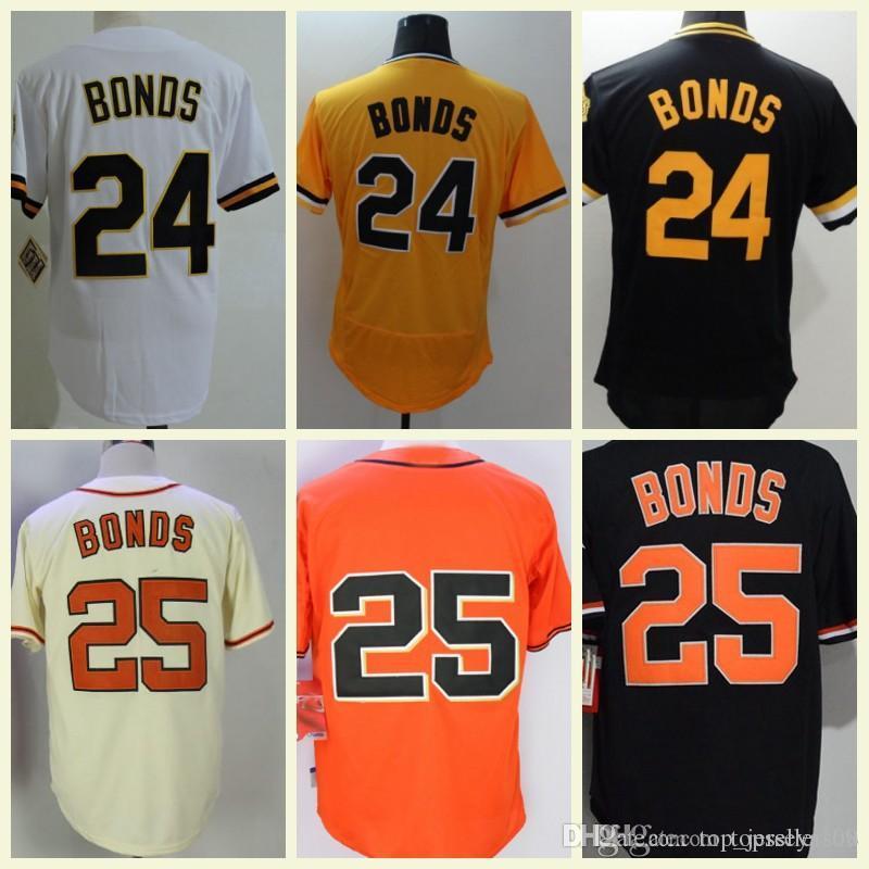 dca2f6b3689 2019 Cheap Mens  25 Barry Bonds Stitched White Grey Black  24 Barry Bonds  Baseball Jerseys Thrownback Vintage San Francisco From Top jerseys168
