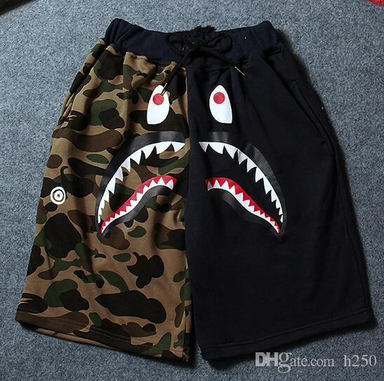Summer Men's Shark Shorts Cotton Camo Causal Shorts Men Casual Camouflage Skateboard Short Pants Loose Streetwear