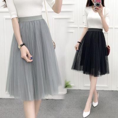 c0fe9feea Faldas de tul Falda plisada de malla para mujer EleWedding Lolita Enagua  faldas mujer Moda