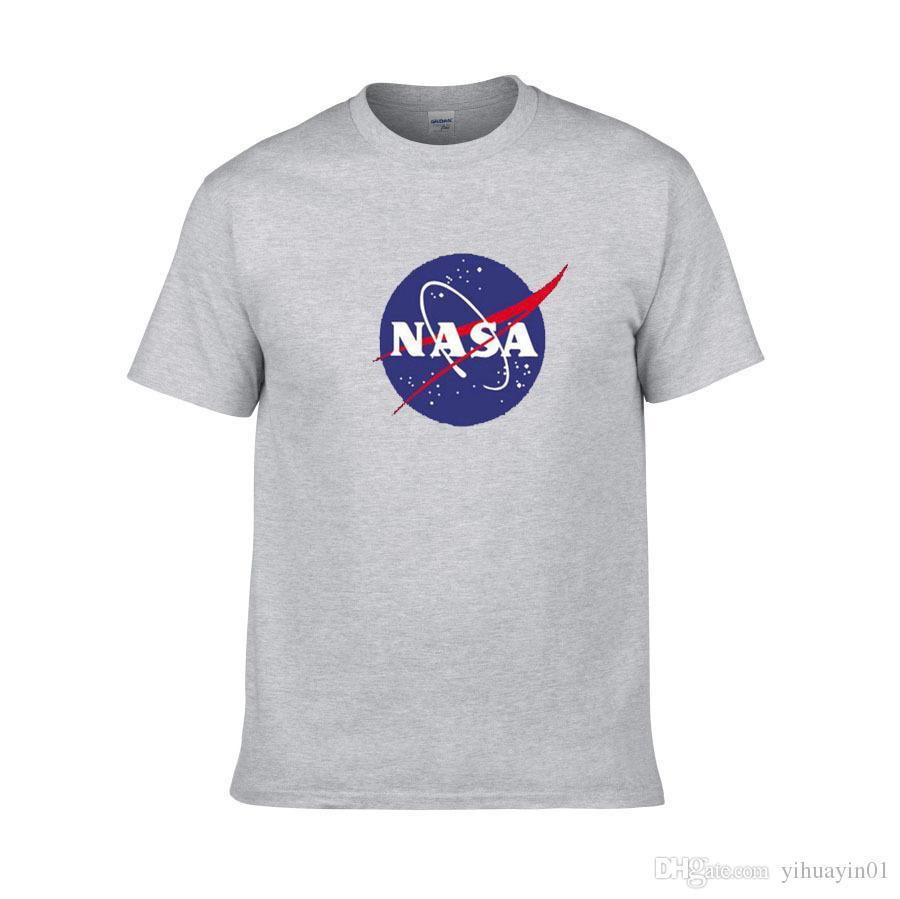 Baumwolle Rundkragen halb Ärmel Pullover Sakko amerikanischer Astronaut NASA Galaxy Erde Druck-T-Shirt