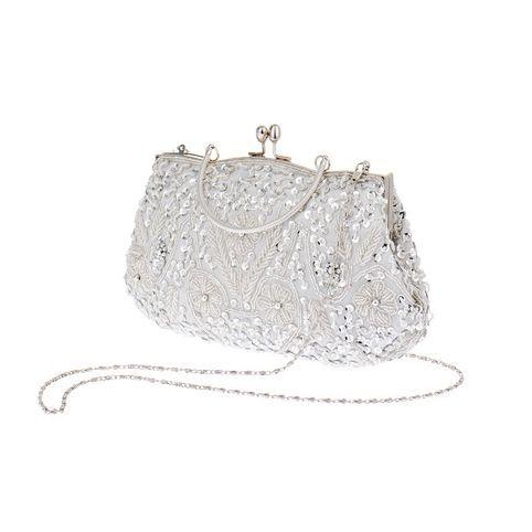 Vintage Evening Beaded Bags White Silver Wedding Bags For Bride Women  Messenger Party Handbags Elegant Handmade Clutch Purses Y18103003 Crossbody  Bags ... f257b9ce6d907