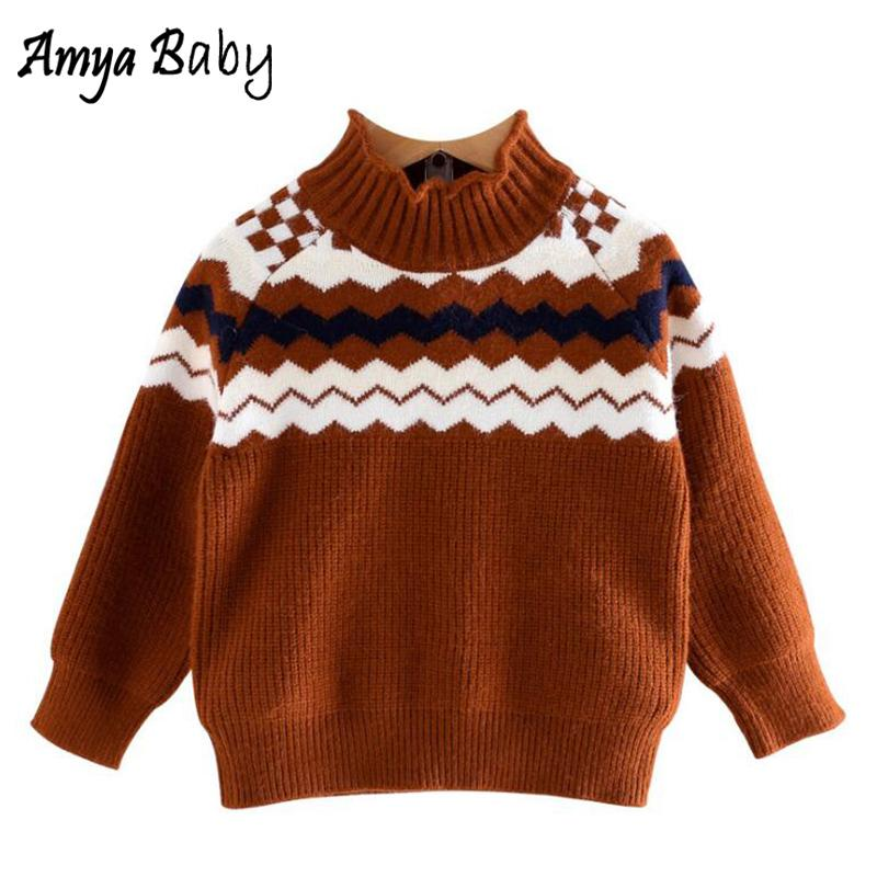 9d80ff706 Amya Baby 2018 Autumn Winter Girls Turtleneck Sweater Striped Casual  Toddler Girl Sweater Boutique Kids Clothing Girls Sweaters Sweater Design  Patterns For ...